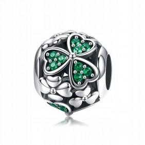 Charms zielona Koniczynka 925 do Pandora Apart