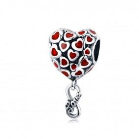 Charms Serce czerwone Love 925 do Pandora Apart