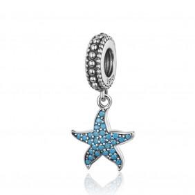 Charms niebieska Rozgwiazda 925 do Pandora Apart