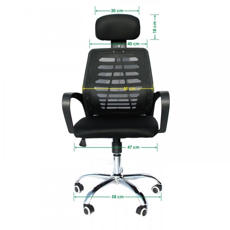 Fotel biurowy Ergonomiczny obrotowy mikrosiatka FB0001