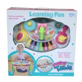 Stolik muzyczny z instrumentami dla dziecka - dźwięki