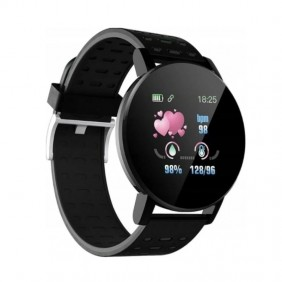 Smartwatch M119+ Pulsometr Kroki Fitness Czarny