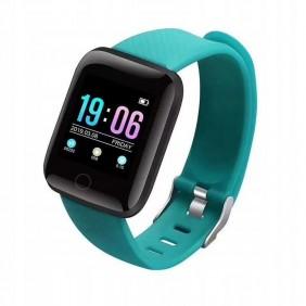 Smartwatch M116+ Pulsometr Kroki Fitness Turkusowy