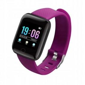Smartwatch M116+ Pulsometr Kroki Fitness Fioletowy