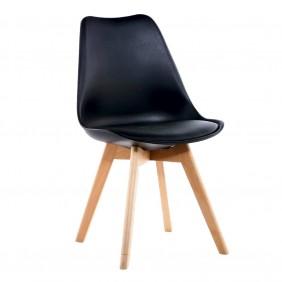 Krzesło kuchenne nowoczesne do kuchni czarne