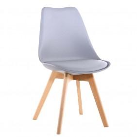 Krzesło kuchenne nowoczesne do kuchni jasno szare