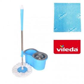 Mop płaski obrotowy rotacyjny ściereczka Vileda niebieski