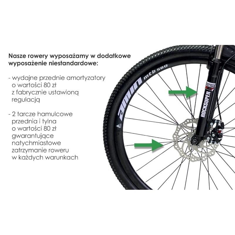"""Rower Górski MTB Minu Czarno-biały 26"""""""