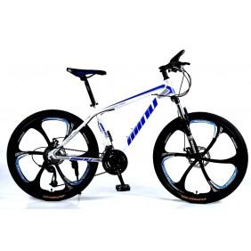 """Rower Górski MTB Minu Biało-niebieski 26"""" 6R"""