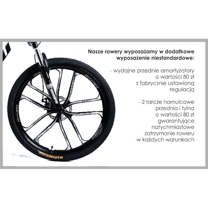 """Rower Górski MTB Minu Biało-czarny 26"""" 10R"""