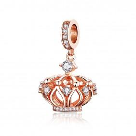 Charms zawieszka 925 Złota korona Królowej