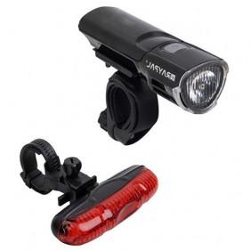 Zestaw lamp rowerowych (przednia + tylna)  YTL-06 czarna