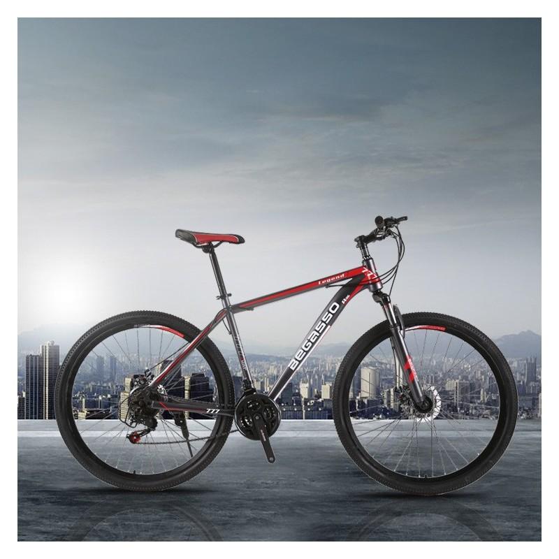 """Rower górski MTB Begasso Legend 29"""" Czarno-czerwony"""
