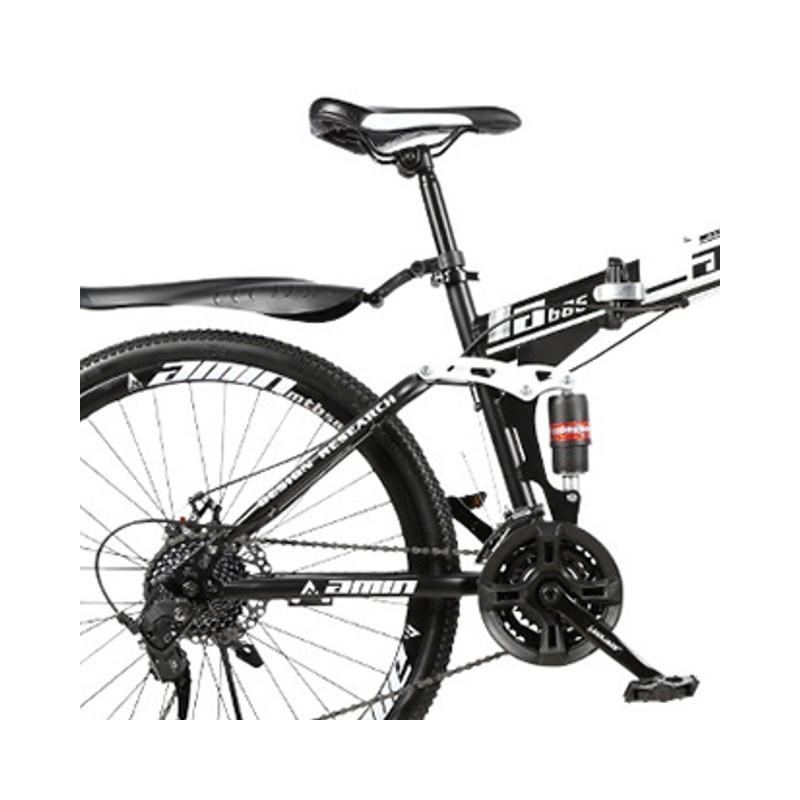 """Rower górski składany MTB Amin 26"""" Czarno-biały"""