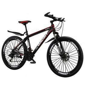 """Rower górski Gausit Eagle MTB 27,5"""" aluminiowa rama - Czarno-czerwony"""