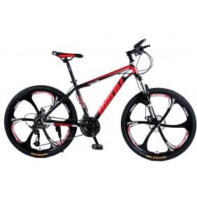 """Rower Górski MTB Minu Czarno-czerwony 26"""" 6R"""