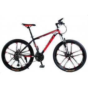 """Rower Górski MTB Minu Czarno-czerwony 26"""" 10R"""