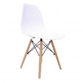 Krzesło kuchenne nowoczesne do kuchni białe BM-A304