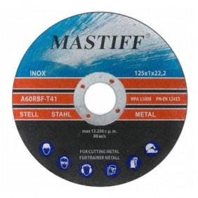 Tarcza do cięcia metalu Mastiff 125/1 MFMC12510