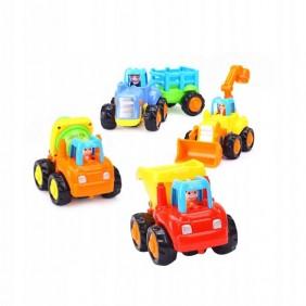 Zestaw Mini Pojazdy Budowlane 5 sztuk Blister
