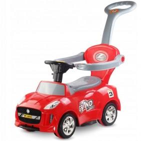 Jeździk pchacz sportowy samochód czerwony dźwięki