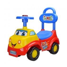 Jeździk pchacz samochód czerwony dźwięki klaskon