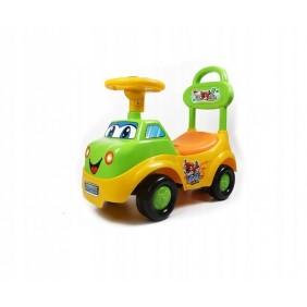 Jeździk pchacz samochód żółty dźwięki klaskon